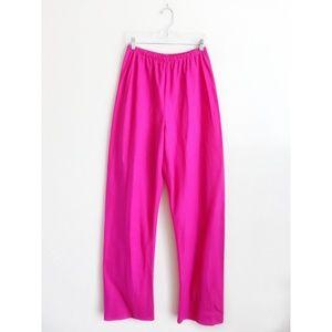 Shamask Pink Linen Bias Wide Leg Pants 2 US M NWT